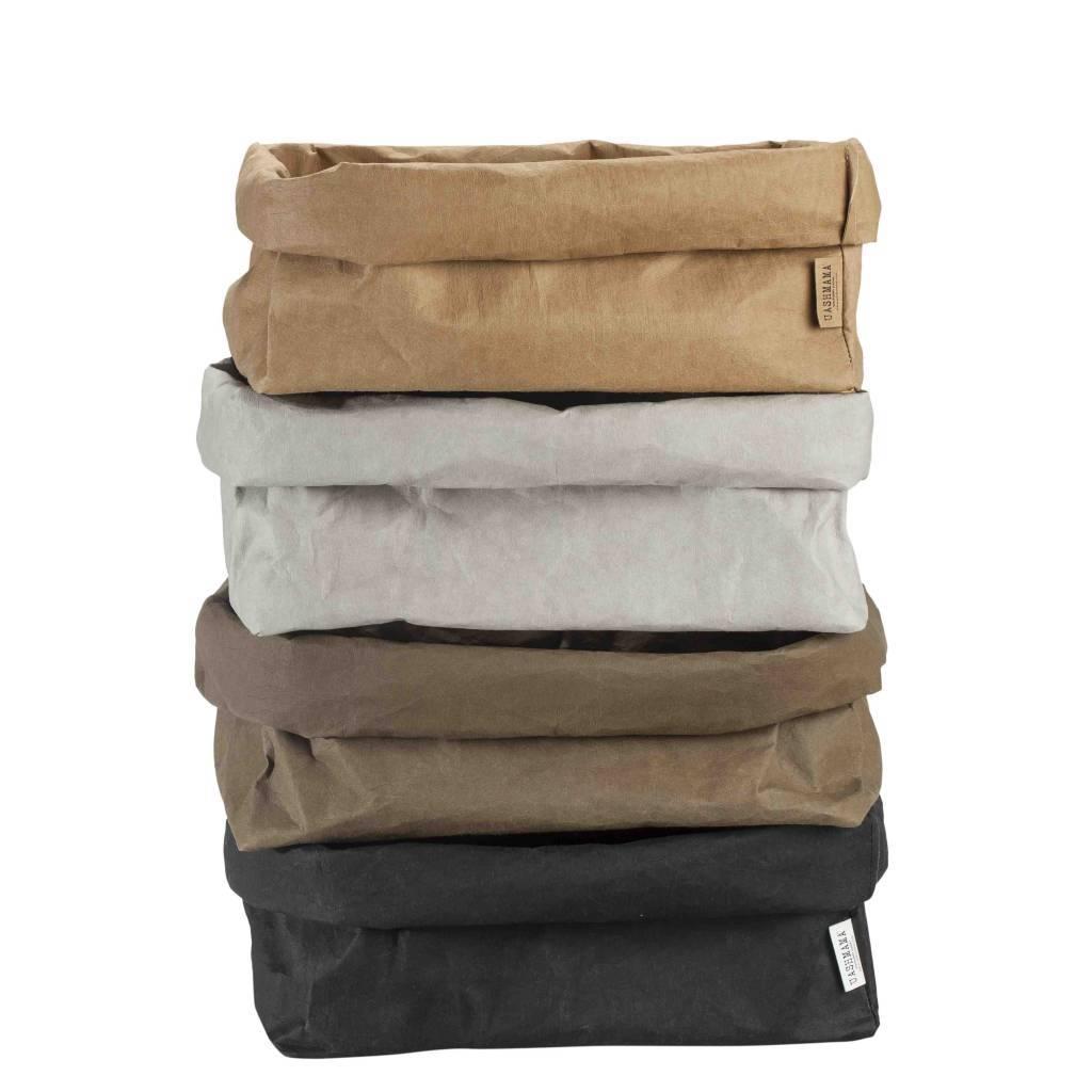 Uashmama Bolsa para revistasde papel lavable - Natural/Marrón - Uashmama