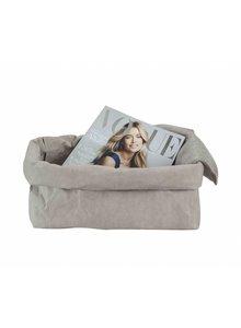 Uashmama Bolsa de papel lavable para revistas - gris - Uashmama