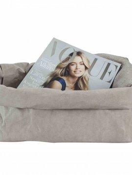 Uashmama Washable Magazine Paper Bag in Light Grey - Uashmama