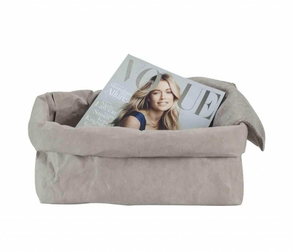 Uashmama bolsa para revistas de papel lavable gris for Papel pared lavable