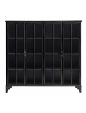 Nordal Industrial metal Downtown Cabinet 4 doors - black - Nordal