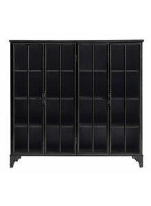 Nordal Industrial metal Downtown Cabinet 4 doors - black - Nordal