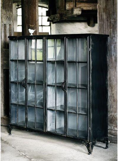 Nordal Biblioteca industrial Downtown de metal 4 puertas - negro - Nordal