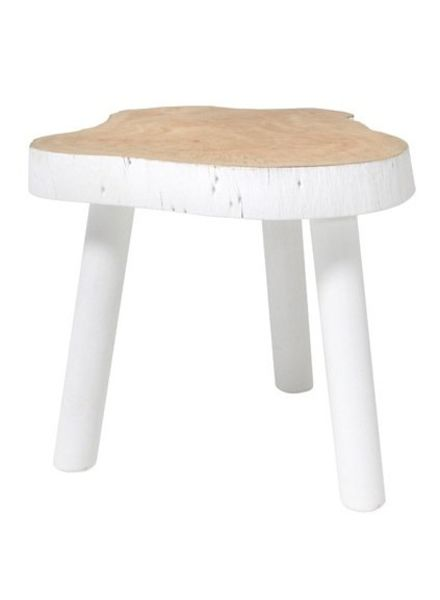 HK Living Tree table - white wood - 33cm - HK Living