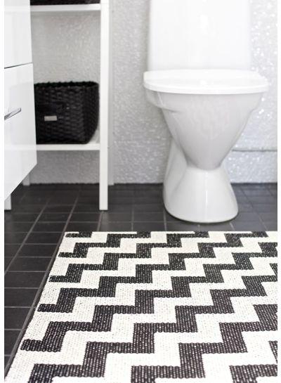 Brita Sweden Gunnel negro alfombra - 70x100cm - Brita Suecia