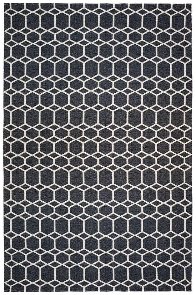 Brita Sweden Tapis Ingrid Noir 200x300 cm -Brita Sweden