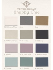 Swatches paint Chalk - Chabby Chic - Painting the Past