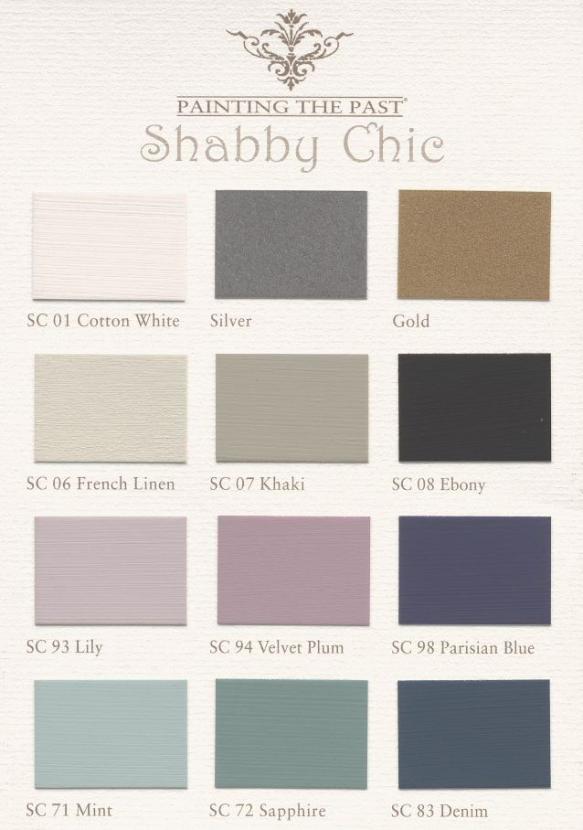 Muestrario de color de la pintura de tiza - Chabby Chic - Painting the Past