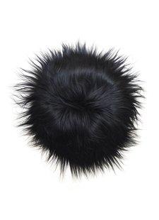 HK Living Cojín de piel de oveja de Islandia - Negro - 35cm - HK Living