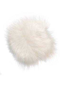 HK Living Coussin de siège en Peau de Mouton d'Islande - Blanc - 35cm - HK Living