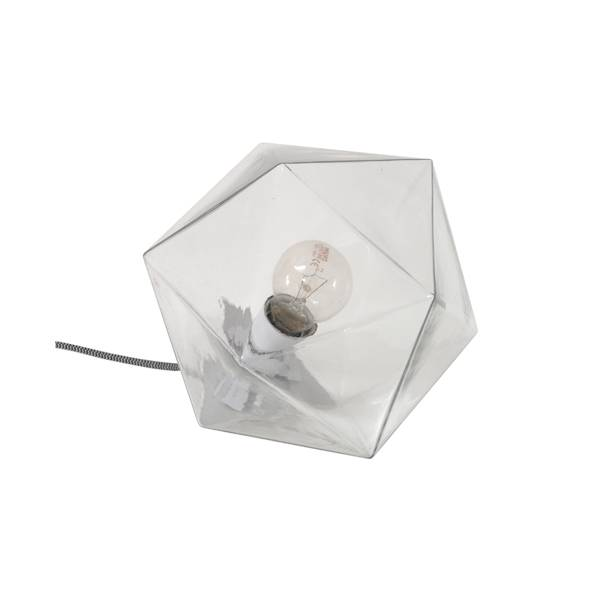 HK Living Lampe suspension Geometrique Diamant en verre