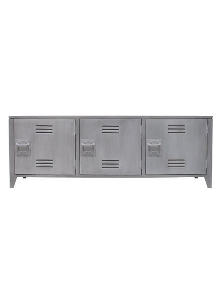 HK Living Mueble de TV Escandinavo - Industrial de madera - Gris - HK Living