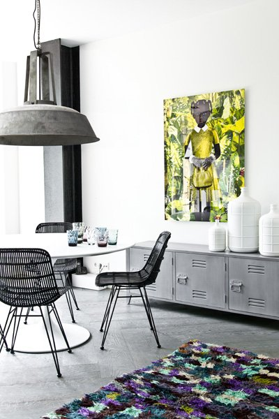 HK Living Meuble TV scandinave/industriel bois - gris - HKLiving