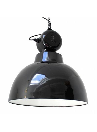 HK Living Lámpara de Suspensión Industrial de Metal -Estio Fábrica - Negro - Ø50cm - HK Living