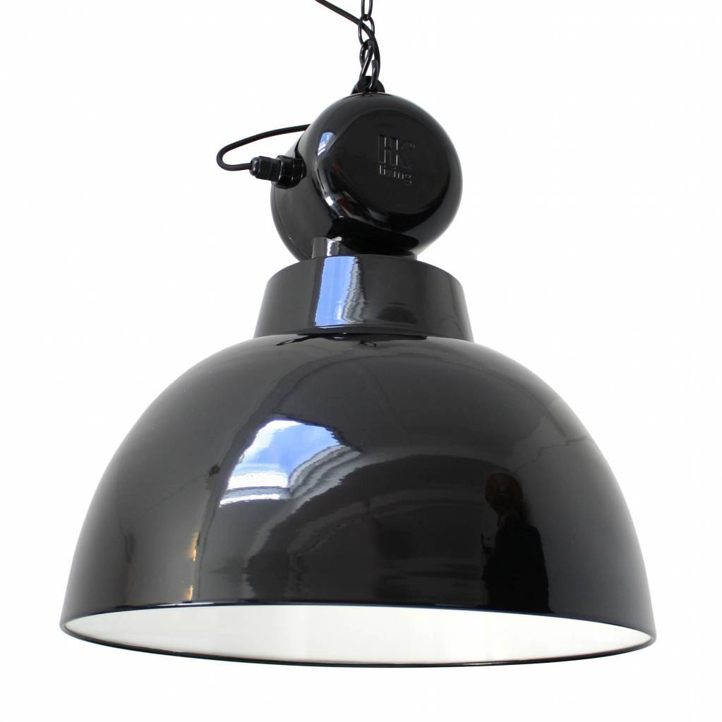 HK Living Suspension industrielle style usine métal noir - Ø50cm - HK Living