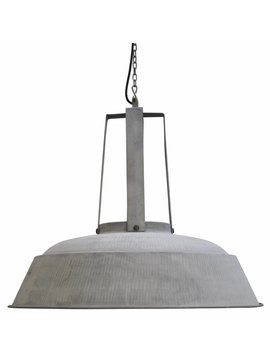 HK Living Lampe suspension industrielle rustique métal gris mat - Ø74 - HK Living