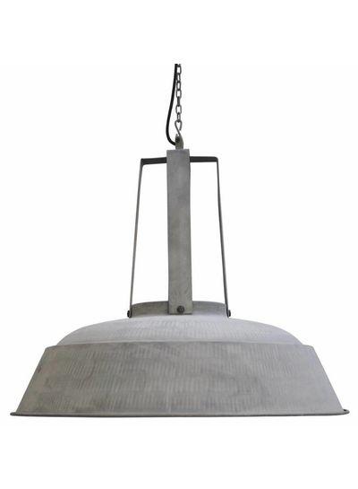 HK Living Lámpara de suspensión industrial / gris mate en metal - Ø74 - Living HK