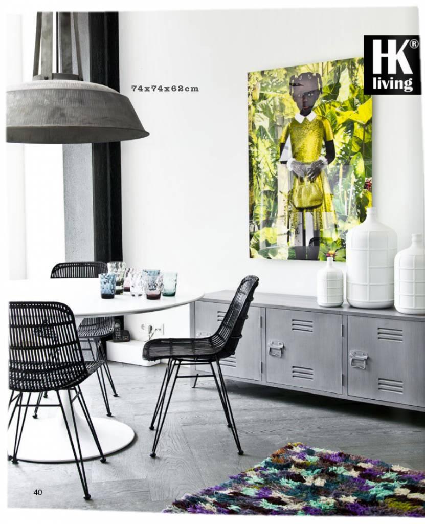 HK Living Lampe suspension industrielle rustique métal gris mat - Ø74 - HK Living