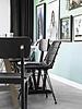 HK Living Rattan dining chair black - HK Living