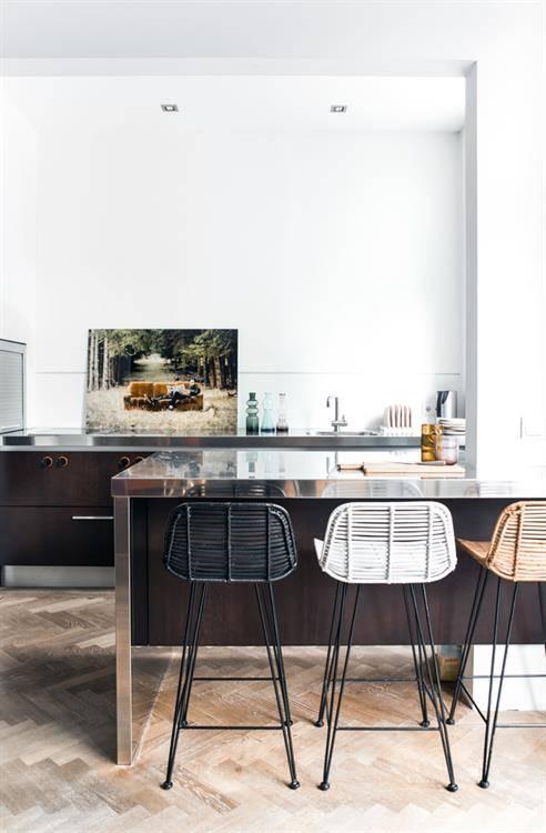tabouret de bar en rotin naturel hk living petite lily interiors. Black Bedroom Furniture Sets. Home Design Ideas