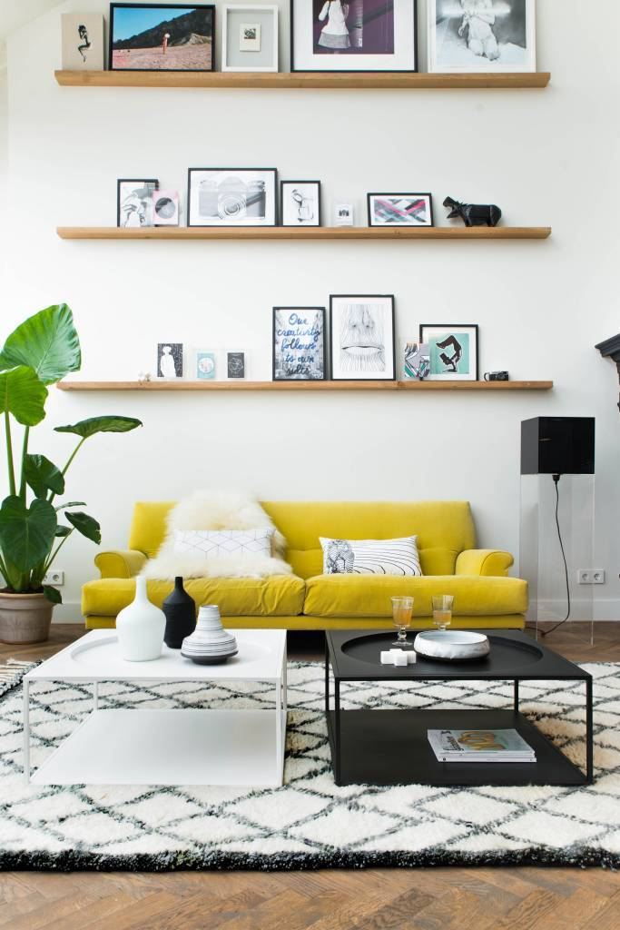 Tapis b rb re blanc 180x280 cm hk living petite lily interiors - Idee deco zwart witte salon ...