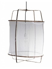 Ay Illuminate Z5 pendant lamp in bamboo and white cotton - Ø 42cm x H57cm - Ay Illuminate