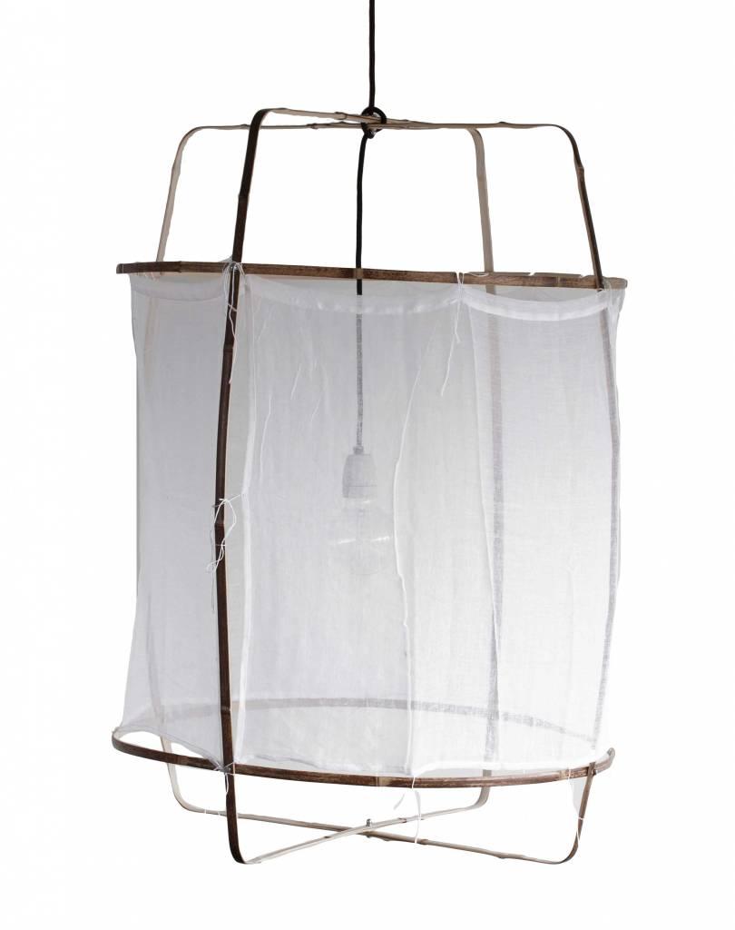 Ay Illuminate Z5 lámpara de bambú y algodón blanco - Ø 42cm x H57cm - Ay illuminate