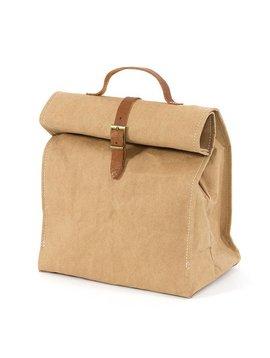 Uashmama Washable Paper Lunch Bag / Doggybag - Natural / Brown - Uashmama