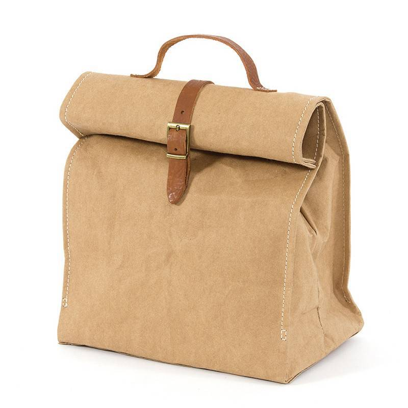 Washable Paper Lunch Bag Doggybag Natural Brown