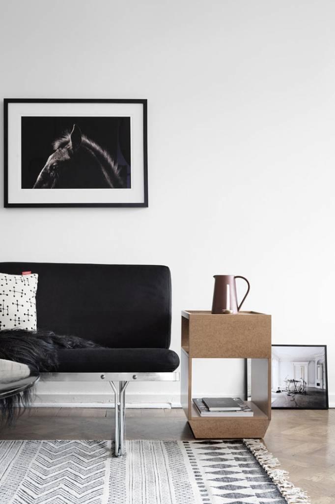 House Doctor Rug 'Block' - dark gray - 160x230cm - House Doctor