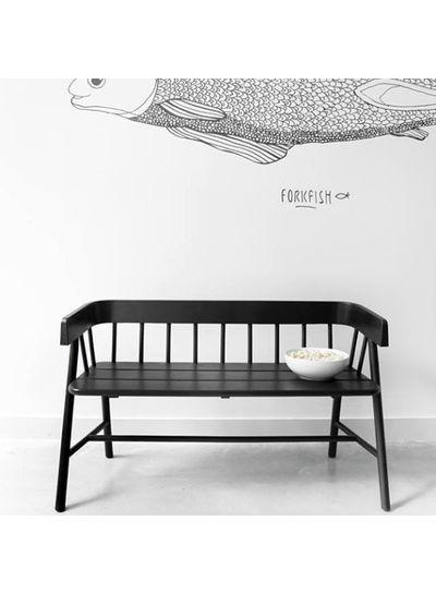 HK Living Banco / sofá para exteriores / Sofá de Teca Negra - HK Living