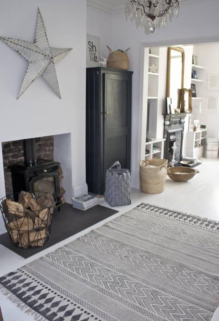 house doctor rug 39 block 39 dark gray 160x230cm house doctor petite lily interiors. Black Bedroom Furniture Sets. Home Design Ideas
