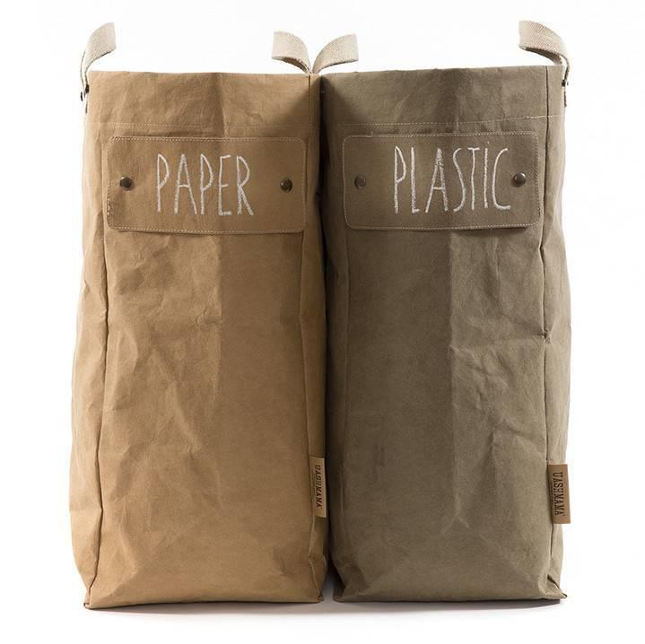Uashmama Washable Paper Laundry Bag - Natural / Brown - Uashmama