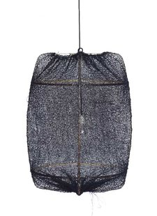 Ay Illuminate ONA Z2 bamboo pendant lamp with Tea Sisal cover - Ø77cm - black - Ay illuminate
