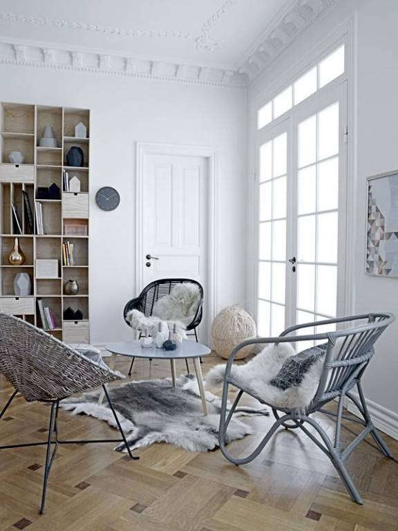 Chaises et Fauteuils Rotin design Scandinave