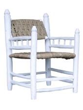Household Hardware Set de 2 Chaises Lounge Marocaines en bois blanc - Exterieur - House Hold Hardware