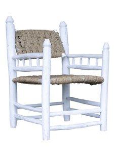 Household Hardware Set de 2 sillas de madera blanca marroquí - al aire libre - Casa Hold Hardware