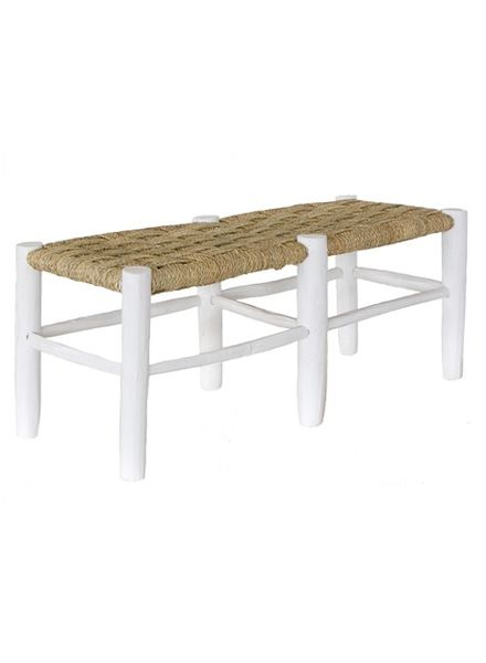 Household Hardware Moroccan bench white wood - XL - HouseHold Hardware