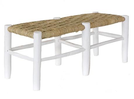 Household Hardware Banc Marocain en bois blanc - XL - Exterieur - HouseHold Hardware