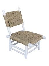 Household Hardware Silla de playa de madera - blanca - al aire libre - HouseHold Hardware