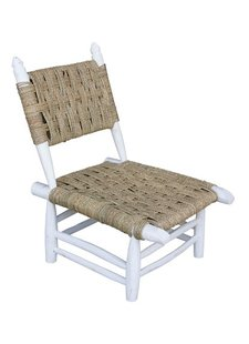 Household Hardware Morrocan beach chair white wood - Outdoor - House Hold Hardware
