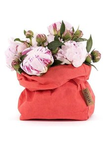 Uashmama Washable Paper Bag - Coral Red - Uashmama