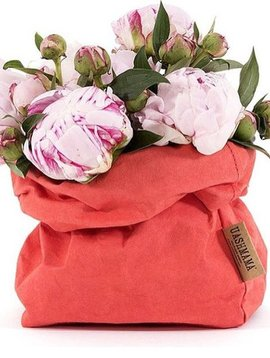 Uashmama Bolsa de papel lavable - Rojo Coral - Uashmama