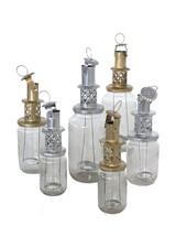 Household Hardware Silver Lantern - Upcycled- Household Hardware