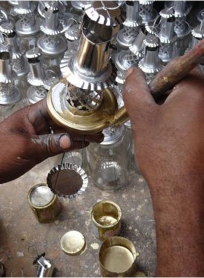 Household Hardware Golden Lantern - upcycled / reciclado - HouseHold Hardware