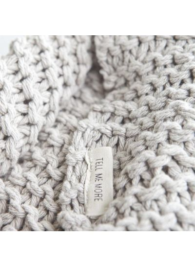Tell me more Knitted plaid in 100% cotton - Offwhite - Tell Me More