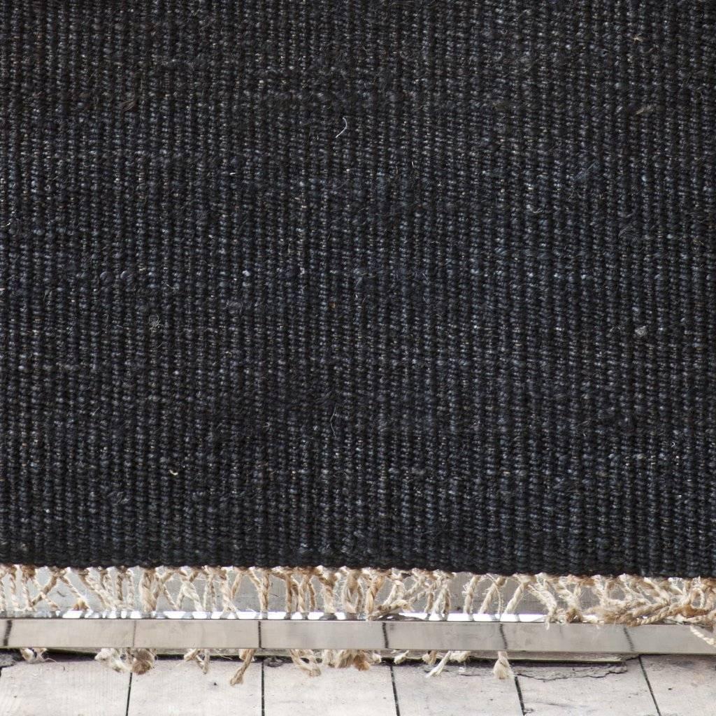 tell me more tapis toile de chanvre noir 140x200cm tell me more - Tapis Noir