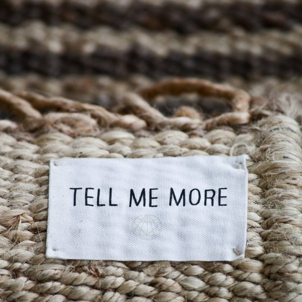 Tell me more Tapis toile de Chanvre - noir - 140x200cm - Tell me more