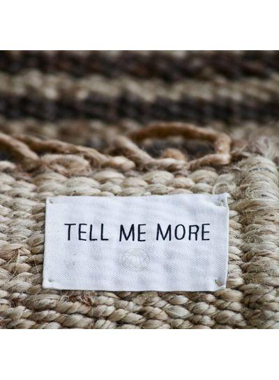 Tell me more Alfombra nordica étnica de cáñamo - blanco - 140x200cm - Tell me more