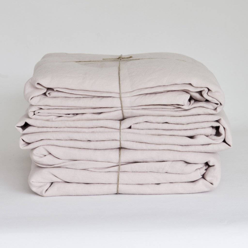 Tell me more Duvet cover 100% stonewashed linen - 220x240 - dusty pink - Tell me more
